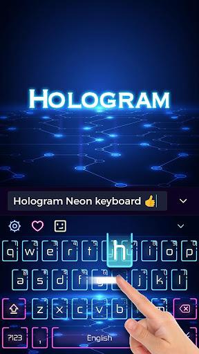 Neon Keyboard Theme 10001005 screenshots 1