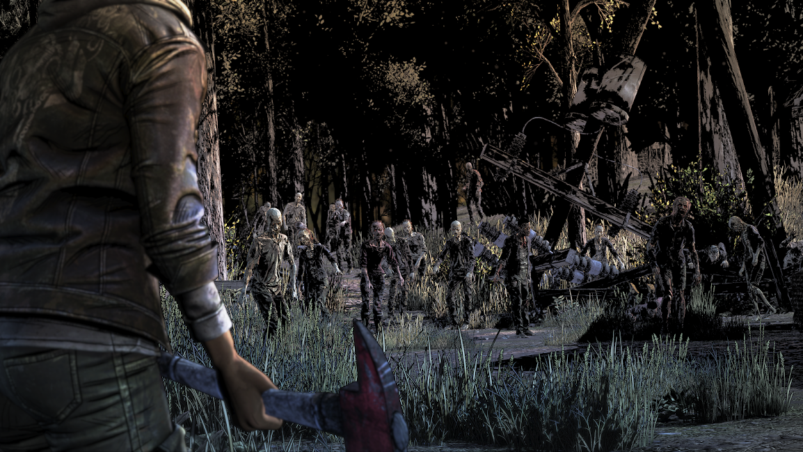 The Walking Dead The Final Season Clementine facing zombies