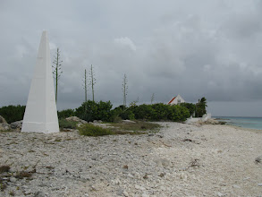 Photo: obelisk and century plants