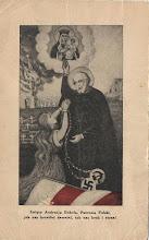 """Photo: Arcyciekawa karta o głębokiej wymowie patriotyczno-religijnej. Na odwrocie  MODLITWA NARODOWA (Na melodię: """"Kiedy ranne...)"""
