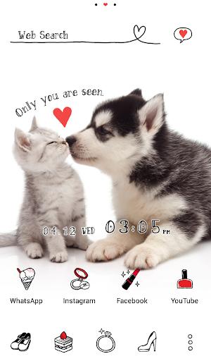 Cute Theme Puppy and Kitten 1.0.0 Windows u7528 1