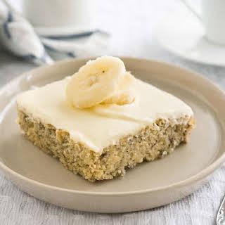 Easy Banana Cake Recipe with Mascarpone Frosting.