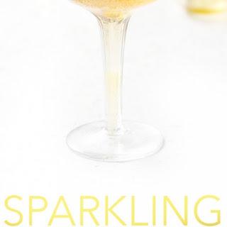 Sparkling Honey and Lemon Cider (mocktail).