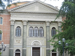Photo: Modena Sinagoga on Piazza Mazzini. The Jewish community in Modena dates back to exiled Jews who escaped Giralda, Spain during the Spanish Inquisition.