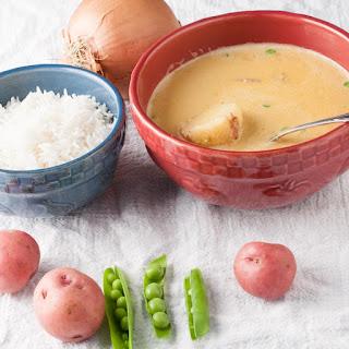 Potato and Green Pea Curry Soup