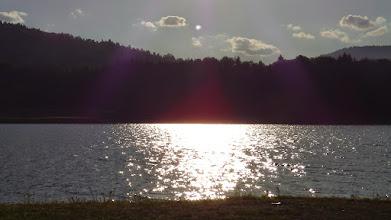 Photo: A túra vége: Csobbanás a naplementében/Békás-tó/