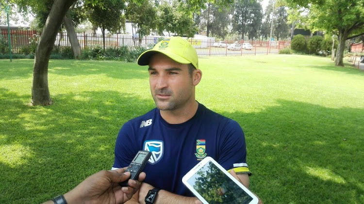 South African opener Dean Elgar addressing the media at SuperSport Park in Centurion on Monday.
