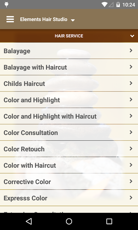 Elements Hair Studio- screenshot