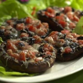 Tomato-&-Olive-Stuffed Portobello Caps