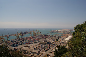 Photo: View from Monjuic; Barcelona is the 4th busiest port in the world