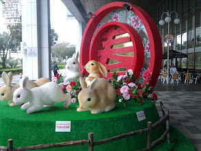 Photo: 22 January - Suntec City Convention Centre - Singapore gets ready for CNY to welcome the year of the rabbit.