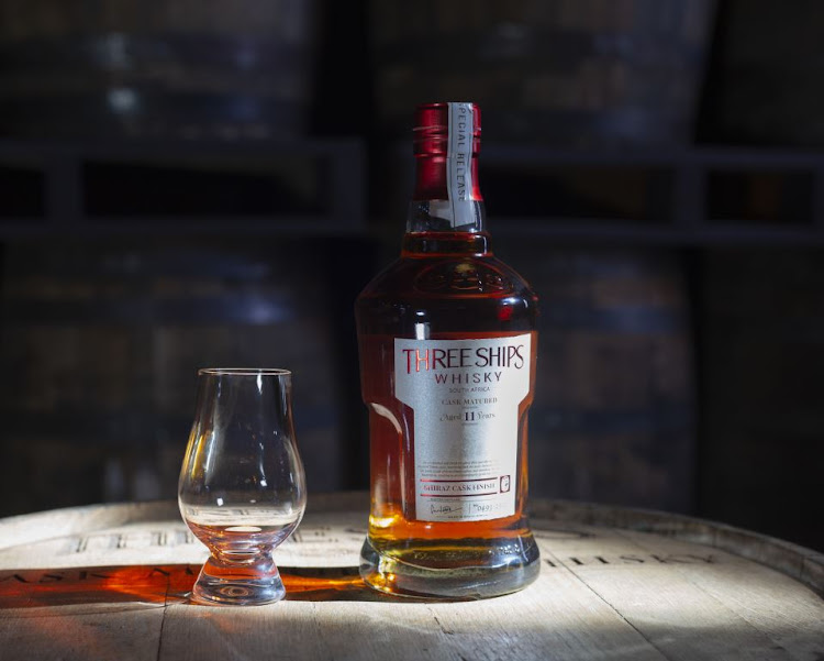 Three Ships Whisky Master's Collection limited edition series: the 11-year-old Single Malt Shiraz Cask Finish.