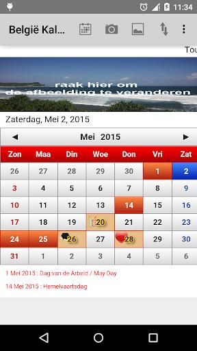 België Kalender 2015