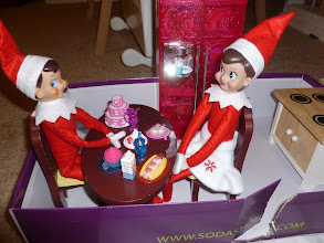 Photo: December 16: Eddie and Holly share a dessert buffet.