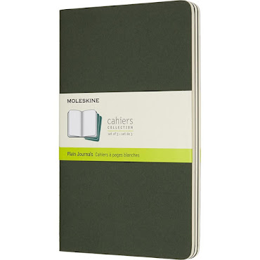 3 x Cahier Journal LargeGreen