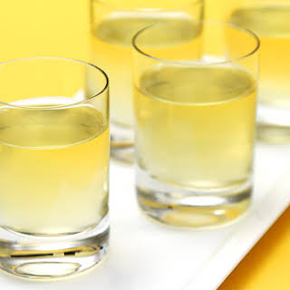 Meyer Lemon Liqueur (homemade Limoncello).