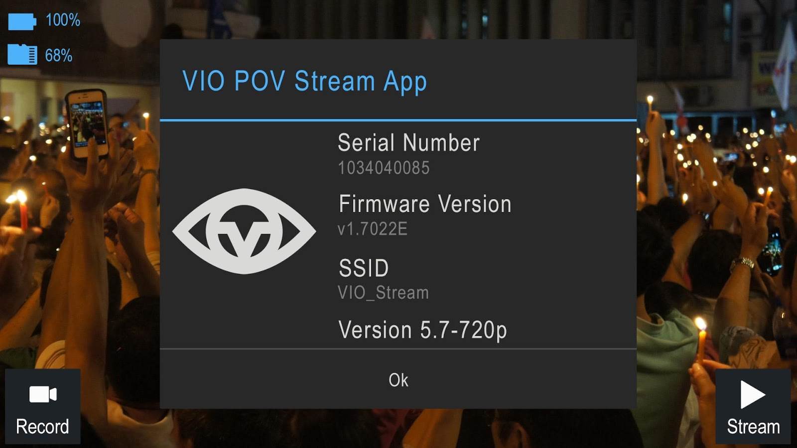 VIO Stream- screenshot