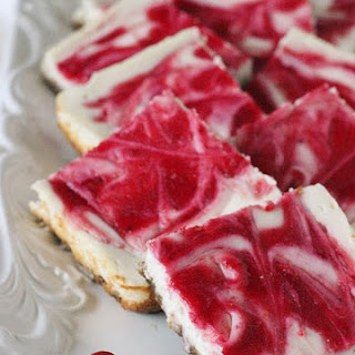 Skinny Cranberry Swirl Cheesecake Squares Recipe