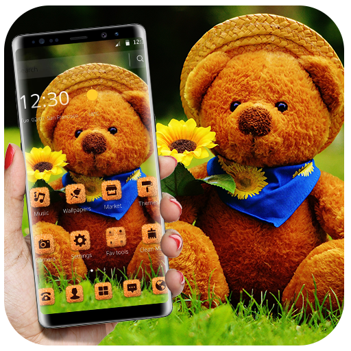 Cute Brown Stuffed Teddy Bear Theme