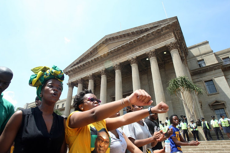 Wits university students protest. Picture: ANTONIO MUCHAVE