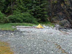 Photo: My campsite in Sand Bay on Stephens Passage.