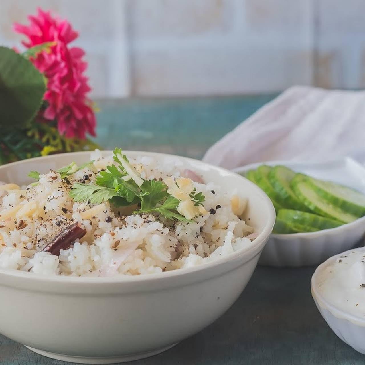 Ginger and Garlic Rice - Lunch Box Menu