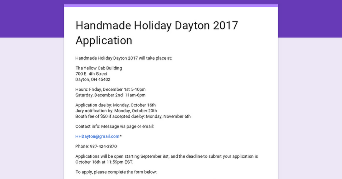 Handmade Holiday Dayton