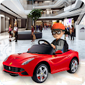Shopping Mall electric toy car driving car games icon