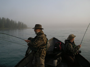 Photo: Trout fishing Rainbow Alley on Alaska's middle Kenai river one fall morning.