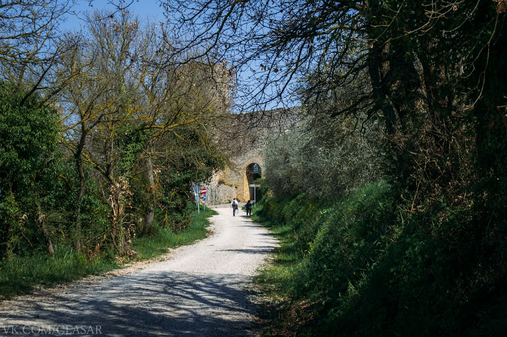 Монтериджони, городская стена, провинция Тоскана