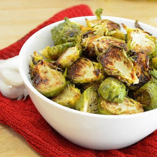 Garlic Balsamic Roasted Brussel Sprouts.