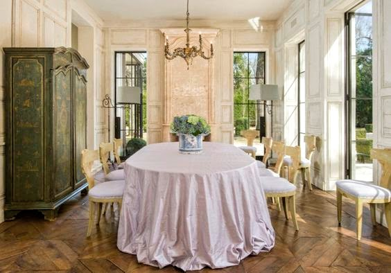 Elegant dining room with Old World style and design by Pamela Pierce. #diningroom #oldworld #frenchcountry #european #feminine #sophisticated