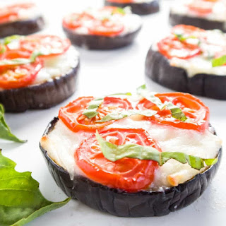 Low Carb Eggplant Pizza - Margherita Style (Gluten-free).