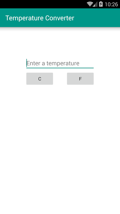 Temperature Converter- screenshot