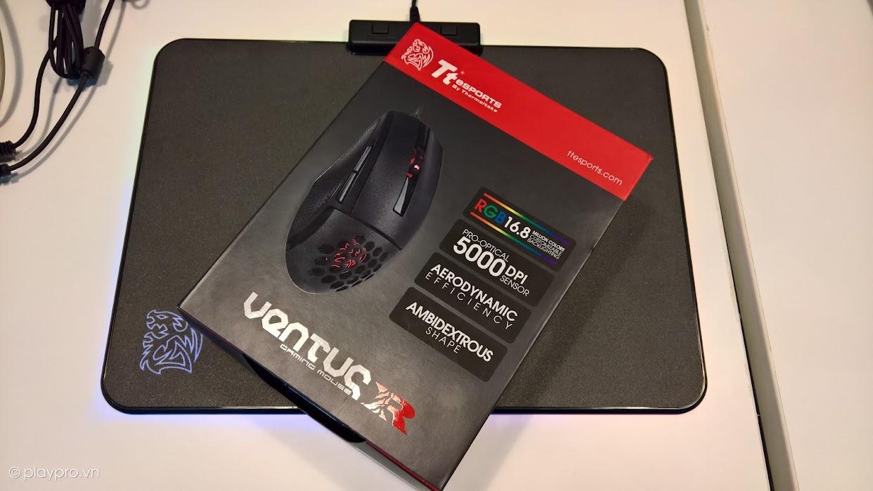 Tt Esports ra mắt chuột game mới – Ventus R RGB: Thiết kế đối xứng, cảm biến quang Pixart PMW3310, Led 16.8 triệu màu…