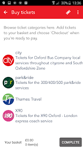 Oxford Bus and X90 m-Tickets screenshot 2