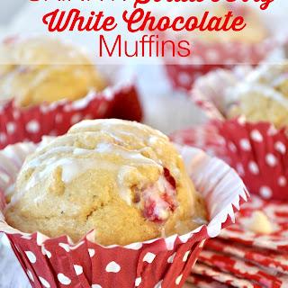 Skinny Strawberry White Chocolate Muffins