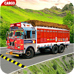 Indian Real Cargo Truck Driver Icon