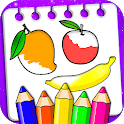 Fruits Coloring Book & Drawing Book icon