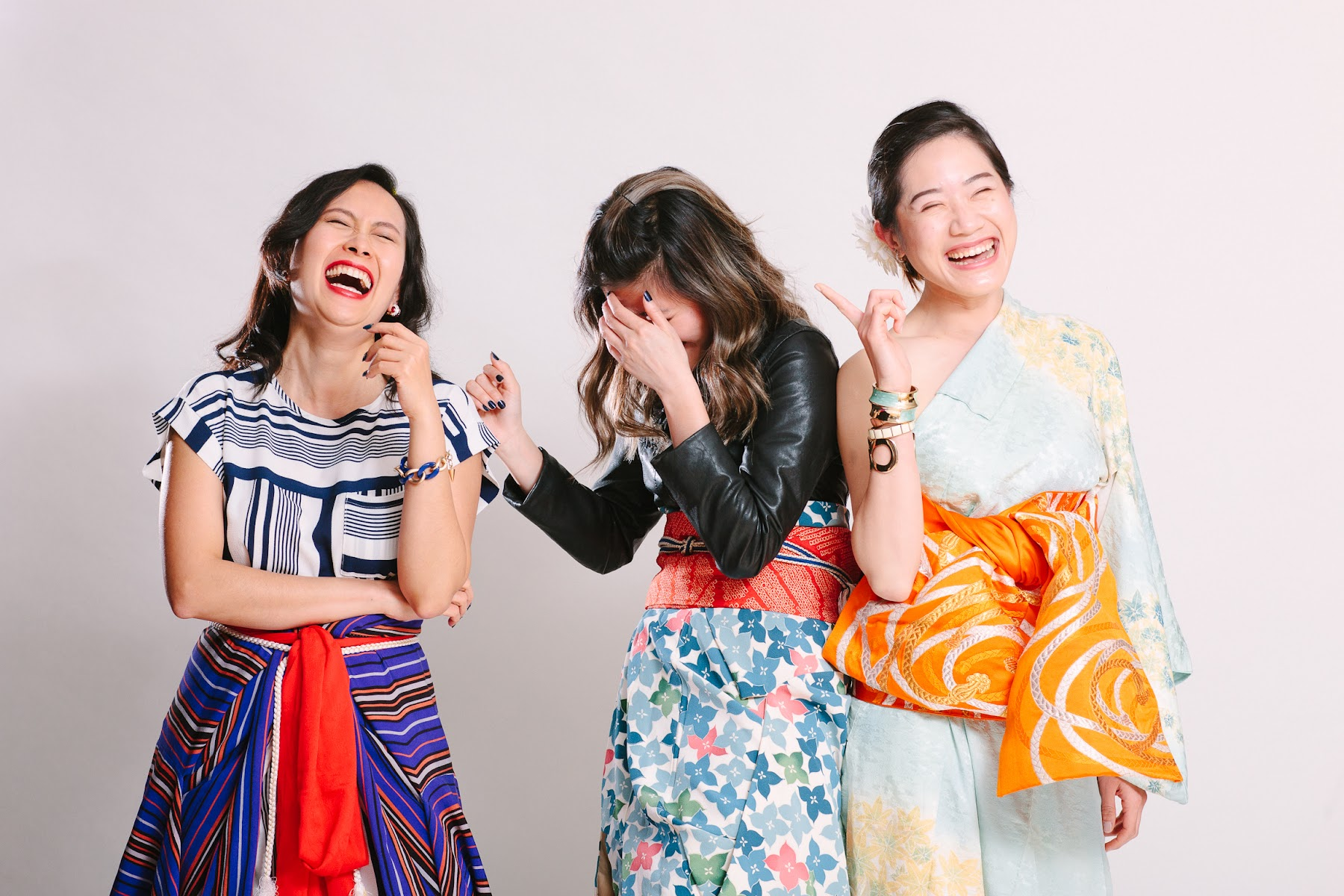 Vero, Audrey, Michelle at Kimono Styling Party - FAFAFOOM.com