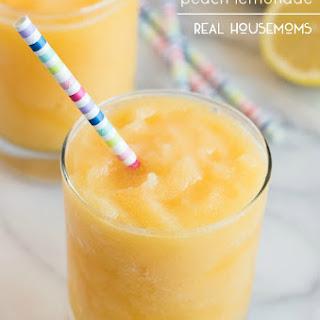 Boozy Frozen Peach Lemonade.