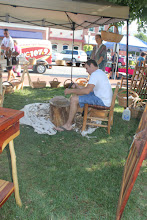 Photo: A wood worker in action!