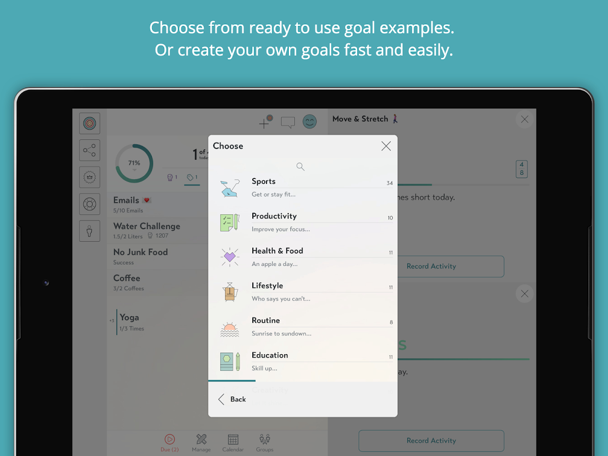 Goalify - My Goals & Habits- screenshot
