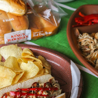 Slow Cooker Hawaiian Pulled Chicken Sandwiches.