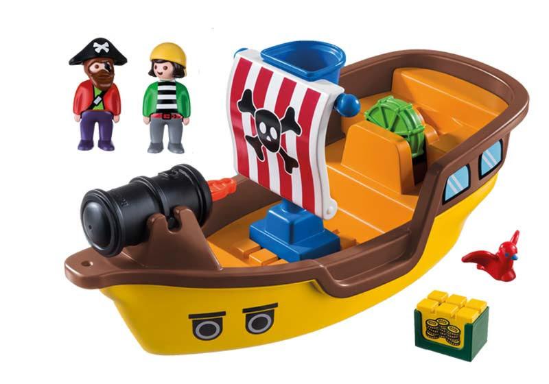 Contenido real de Playmobil® 9118 Barco Pirata 1.2.3.