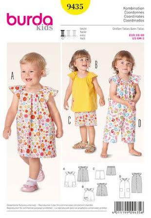 Klänning / Shorts / Linne / Byxdress för barn från Burda 9435
