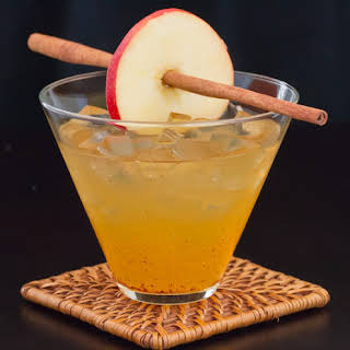 Spiced Apple Ginger Rum Cocktail.