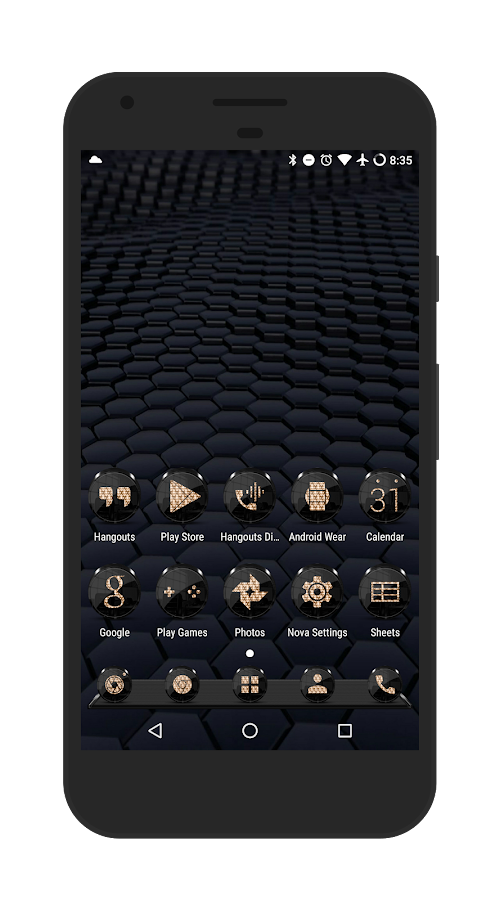 Black Gold Icon Pack- screenshot