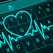 Live 3D Neon Blue Love Heart Keyboard Theme Android APK Download Free By Love Cute Keyboard