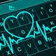 Tema de teclado gratuito Coração Neon Vivo para PC Windows